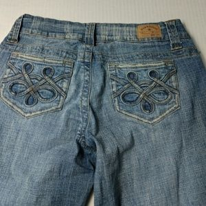 HYDRAULIC WIDE LEG  Distressed Jeans Size 5/6